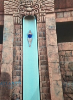 Me on the Leap of Faith slide!